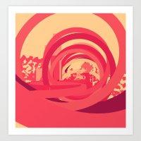 Red 1 Art Print