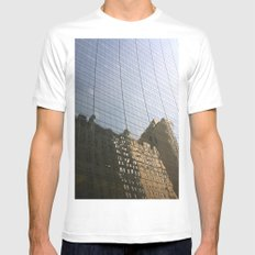 Surreal City White SMALL Mens Fitted Tee
