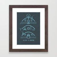 Welcome To Hobbitron Framed Art Print