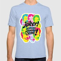The Joker - Clown Prince of Crime Mens Fitted Tee Tri-Blue SMALL