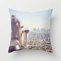 View From The Top, Los A… Throw Pillow