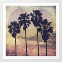 Heart and Palms Art Print