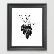 Crystal Heart Framed Art Print