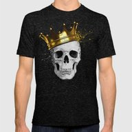 Royal Skull Mens Fitted Tee Tri-Black MEDIUM