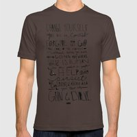 Gandhi Mens Fitted Tee Brown SMALL