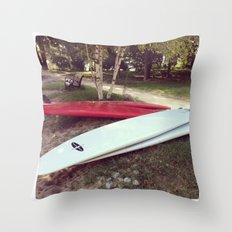 Stand Up Surfboards Water Sport Color Photography Throw Pillow