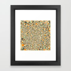 Munich Map Framed Art Print
