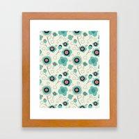 Floral Doodle Framed Art Print