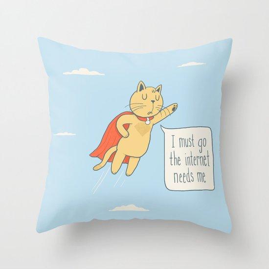 Internet Cat Throw Pillow
