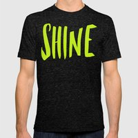 Shine Mens Fitted Tee Tri-Black SMALL