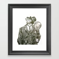 In Which Nothing Says Ha… Framed Art Print