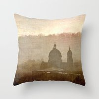 Cityscape - late afternoon Throw Pillow