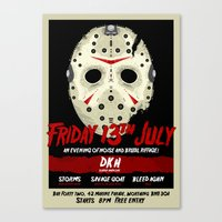 FortyTwo - Poster (Friday 13th July) Canvas Print