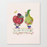 fruity love Canvas Print