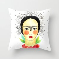 Frida Kahlo: my tribute Throw Pillow