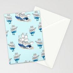 Ships Pattern Stationery Cards