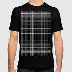 Weave Black and White SMALL Mens Fitted Tee Black