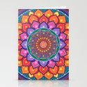 Lotus Rainbow Mandala Stationery Cards