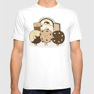 I ❤️ Cookies Mens Fitted Tee White SMALL