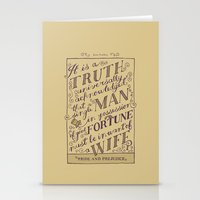 Jane Austen Covers: Pride and Prejudice Stationery Cards