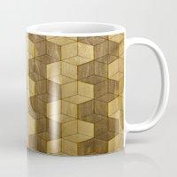 Wooden Zig Zag Optical Cubes Mug