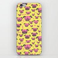 Pug Life  - Yellow And P… iPhone & iPod Skin