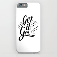 iPhone & iPod Case featuring Get it girl typography by Allyson Johnson