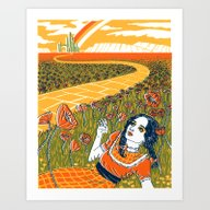 Art Print featuring Dorothy In The Poppy Fie… by Julia Minamata
