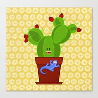 My Dear Cactus Canvas Print