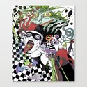 Harley Quinn and Madness Canvas Print