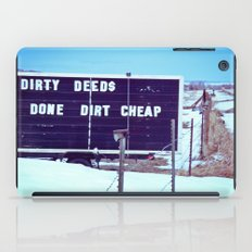 Dirty Deeds iPad Case