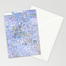 doomsday in blue Stationery Cards
