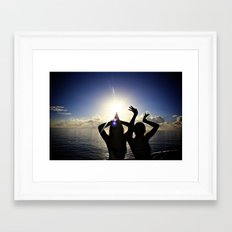fun in the sunset Framed Art Print