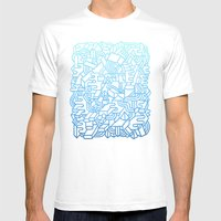 Wave Machine Mens Fitted Tee White SMALL