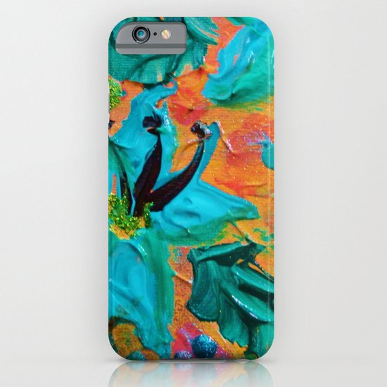 BLOOMING BEAUTIFUL 2 - Modern Abstract Acrylic Tropical Floral Painting, Home Decor Gift for Her iPhone & iPod Case