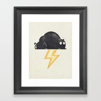 The Thunder Cat Framed Art Print