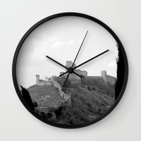 Assisi in the winter Wall Clock