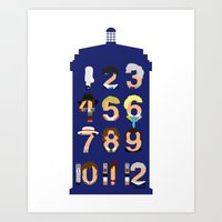 The Number Who Art Print