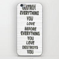 Destroy iPhone & iPod Skin