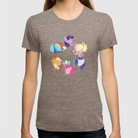 Mane Six Womens Fitted Tee Tri-Coffee SMALL