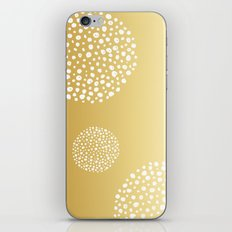 SPOTTED CIRCLES - GOLD iPhone & iPod Skin