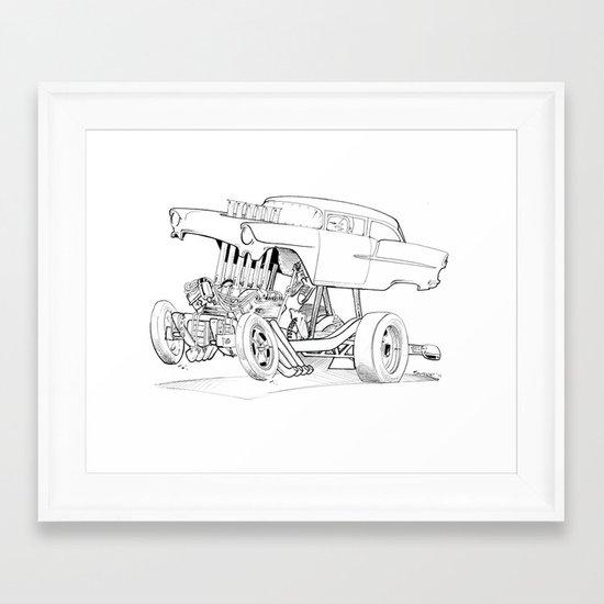 Gasser Chevy Framed Art Print