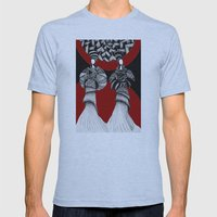 African Mens Fitted Tee Athletic Blue SMALL