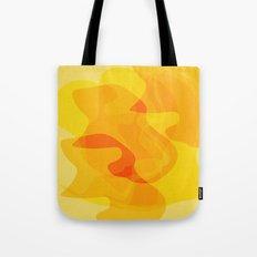 Orange Abstract Shapes Tote Bag