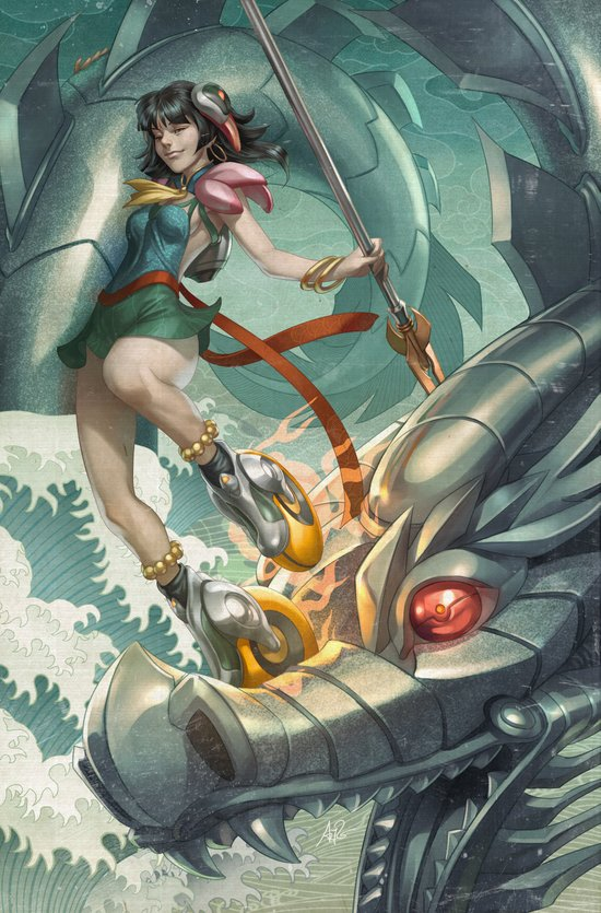 Nazha vs Sea Dragon Art Print