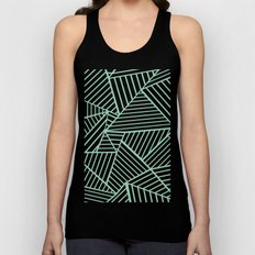 Abstract Lines Close Up Mint Unisex Tank Top