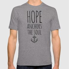 HOPE ANCHORS THE SOUL  Mens Fitted Tee Tri-Grey SMALL