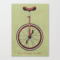Unicycle Canvas Print