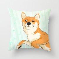 I am not a fox! Throw Pillow