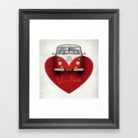Van Love Framed Art Print